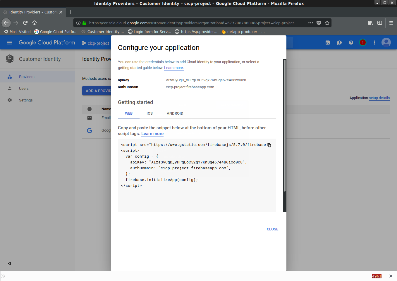 Setting up SAML for Google Cloud Identity for Customers and Partners