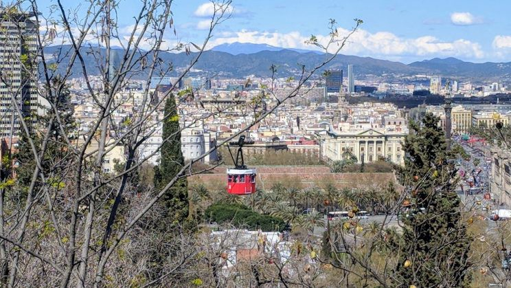 Cable car above Barcelona