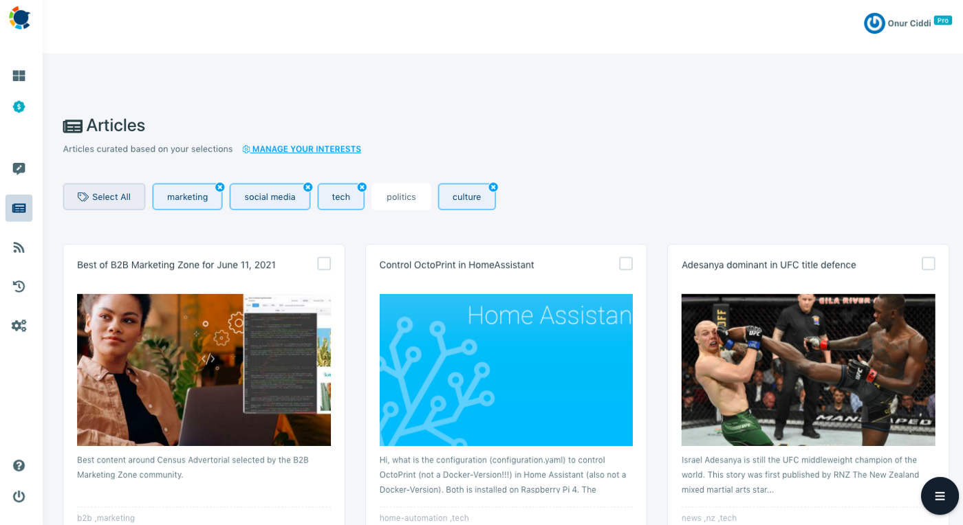 Circleboom Publish can help you find relevant content for your LinkedIn for Business