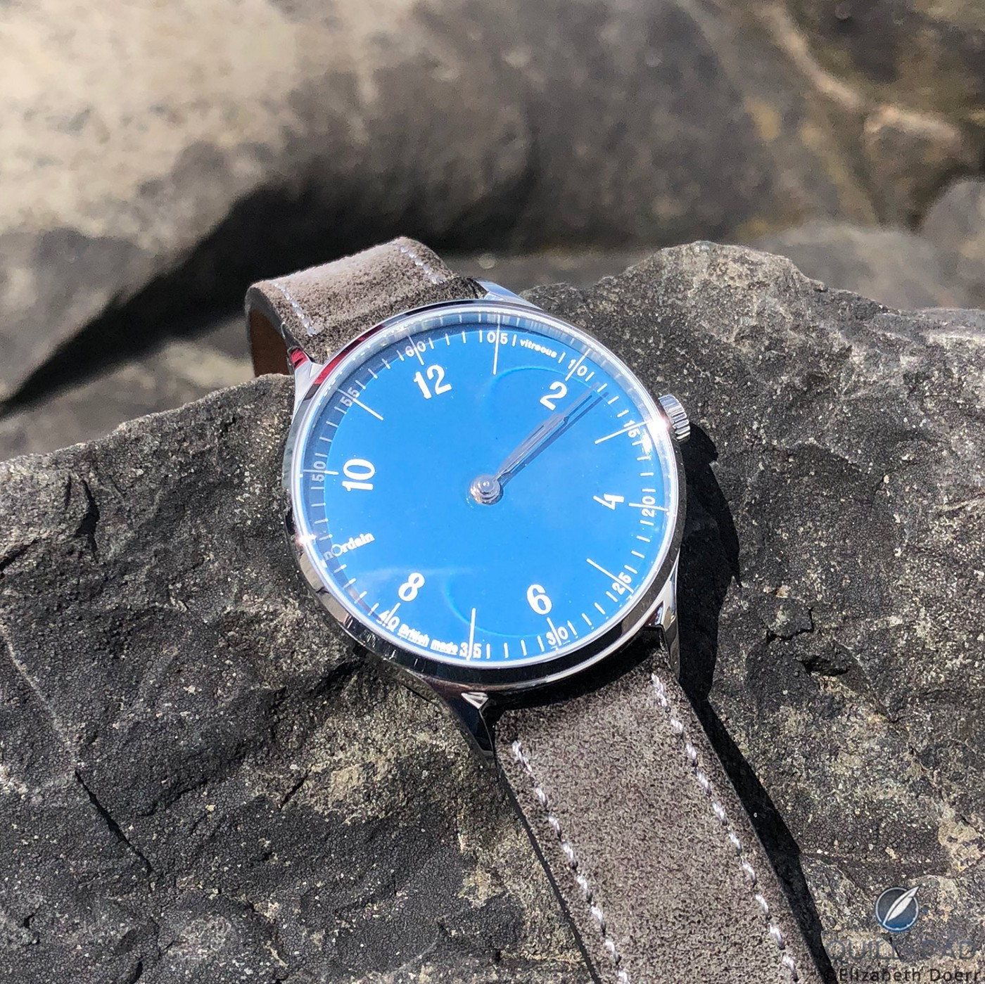 anOrdain Model 1 with blue oven-fired enamel dial