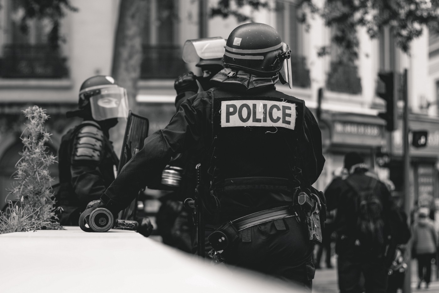 police, restraining a man, forceful, cops and robbers