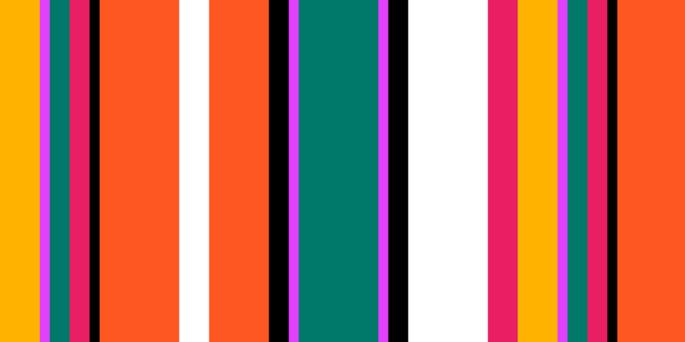 Colorful stripes created with CSS