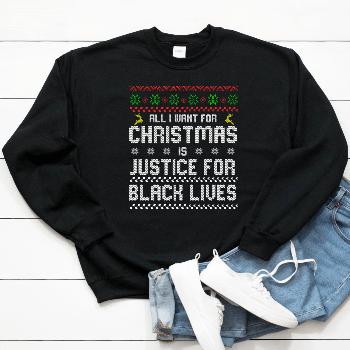 black owned christmas sweater gift for the holidays. black owned clothing.