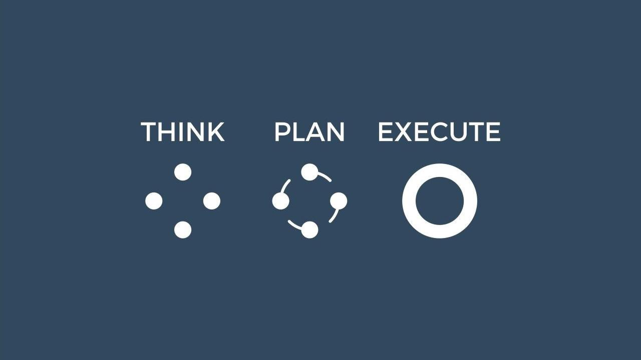Think, plan, execute