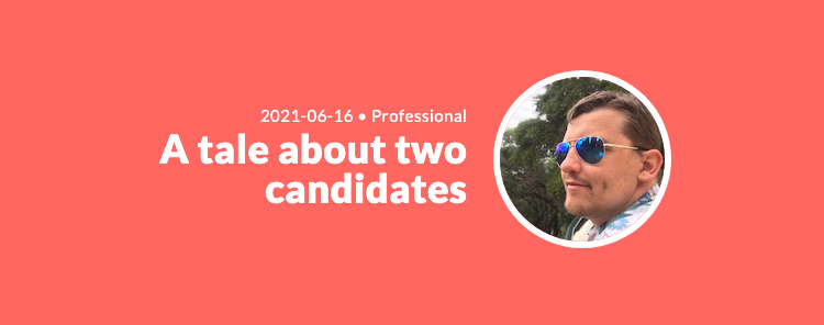 A tale about two candidates