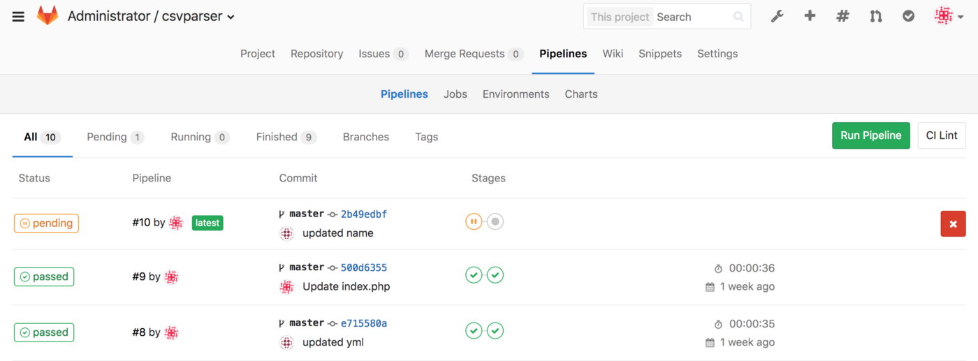 Automated Deployment of PHP Application using Gitlab CI on