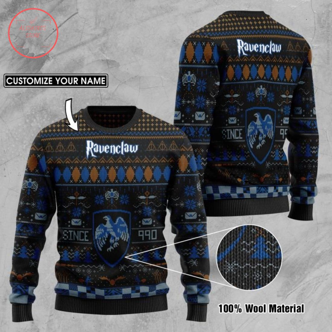 Ravenclaw House Harry Potter Ugly Christmas Sweater