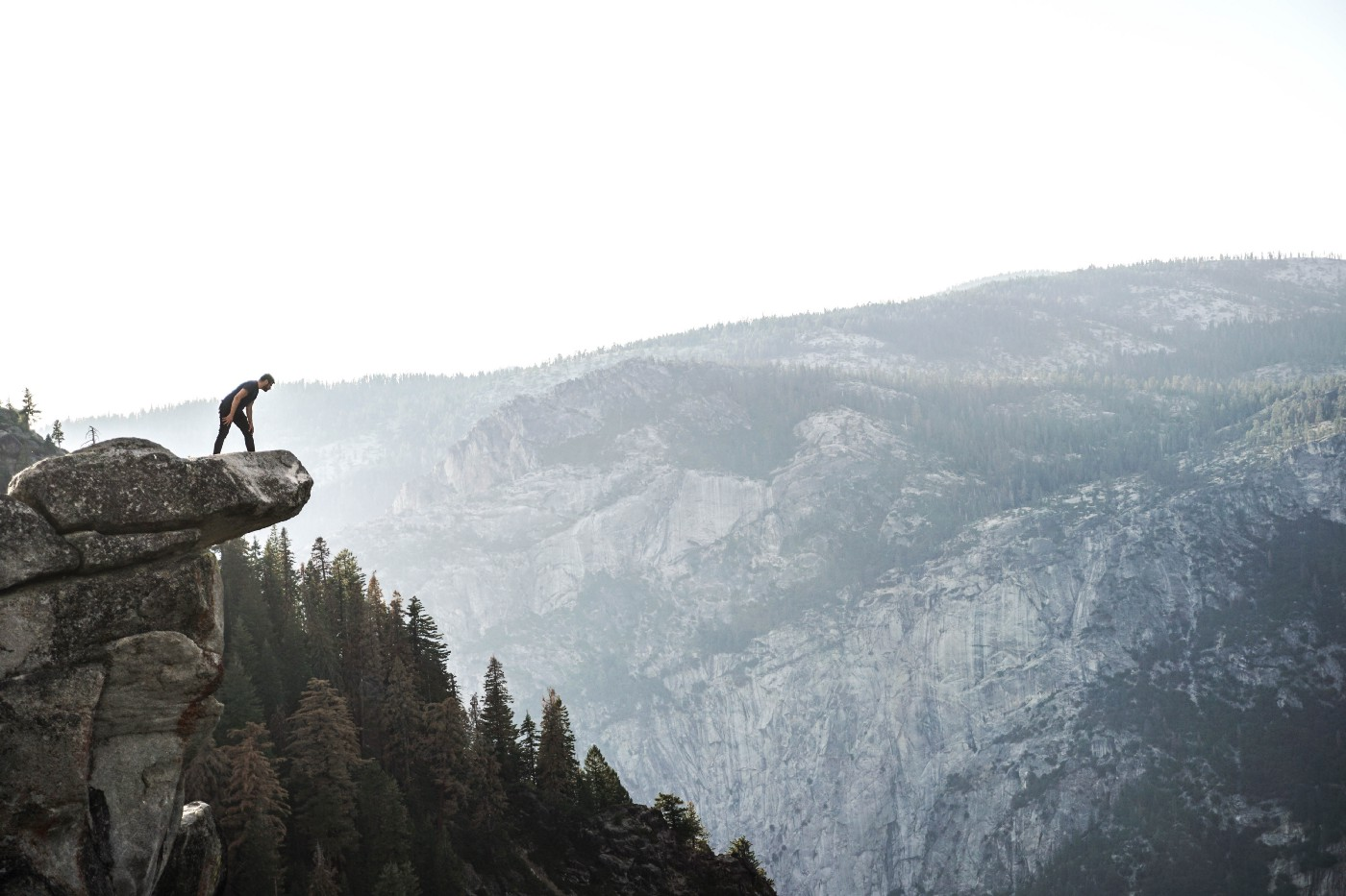A man on a cliff