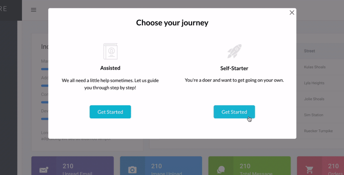 choose your journey saas micro-survey template