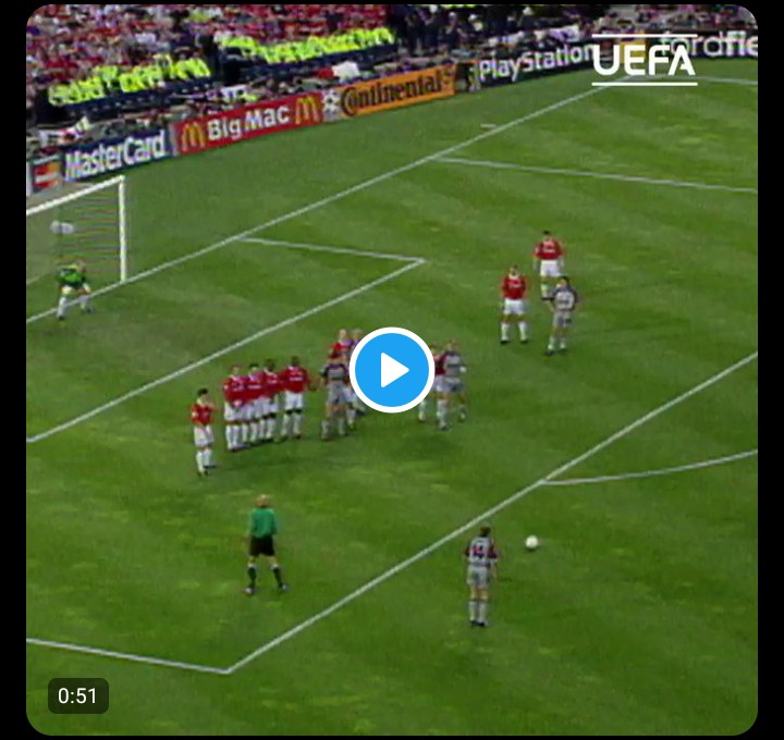 [Video]On this day in 1999 Manchester United scored two injury time goals to beat Bayern Munich