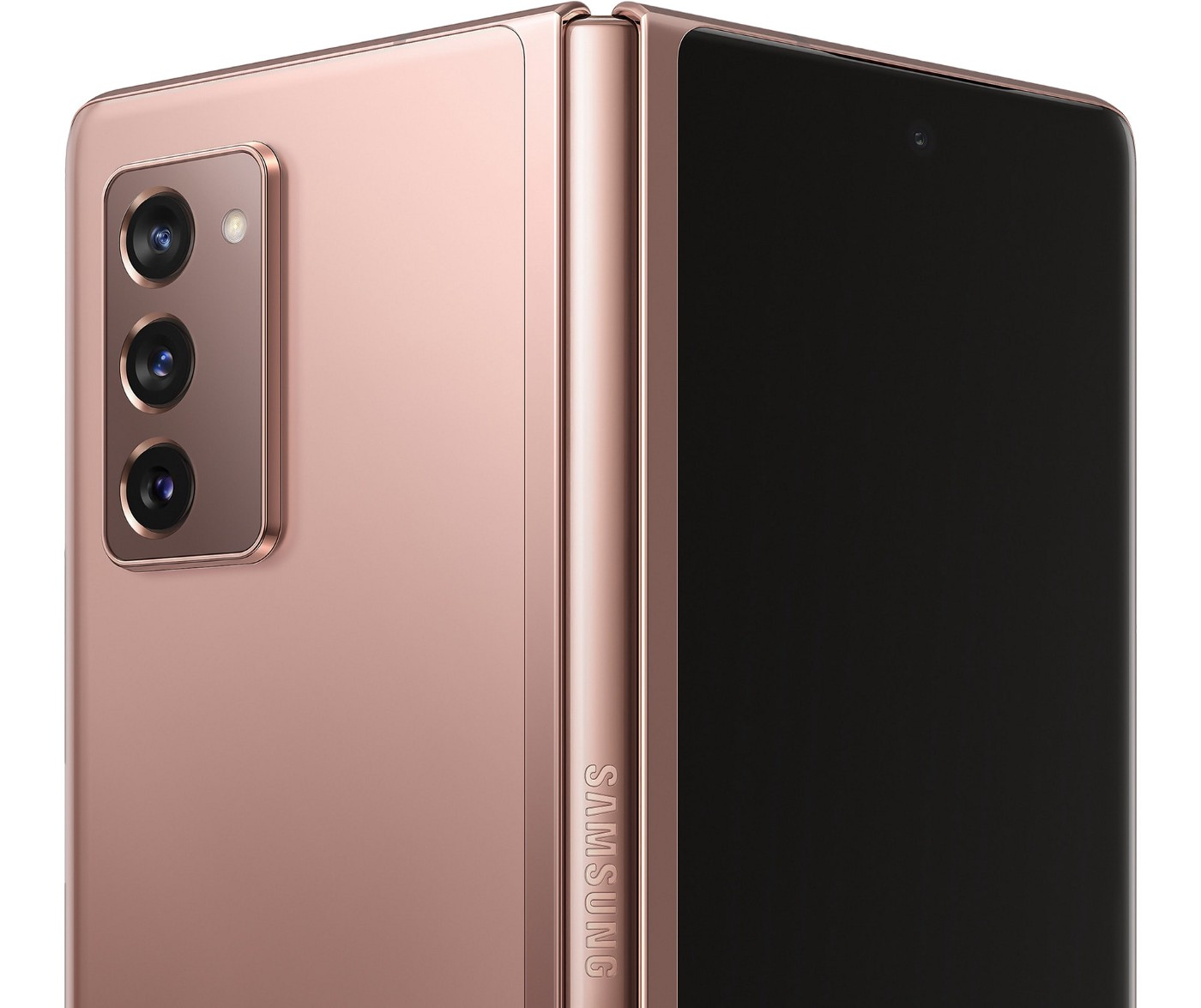 Picture showing the Hinge of the new Galaxy z Fold 2