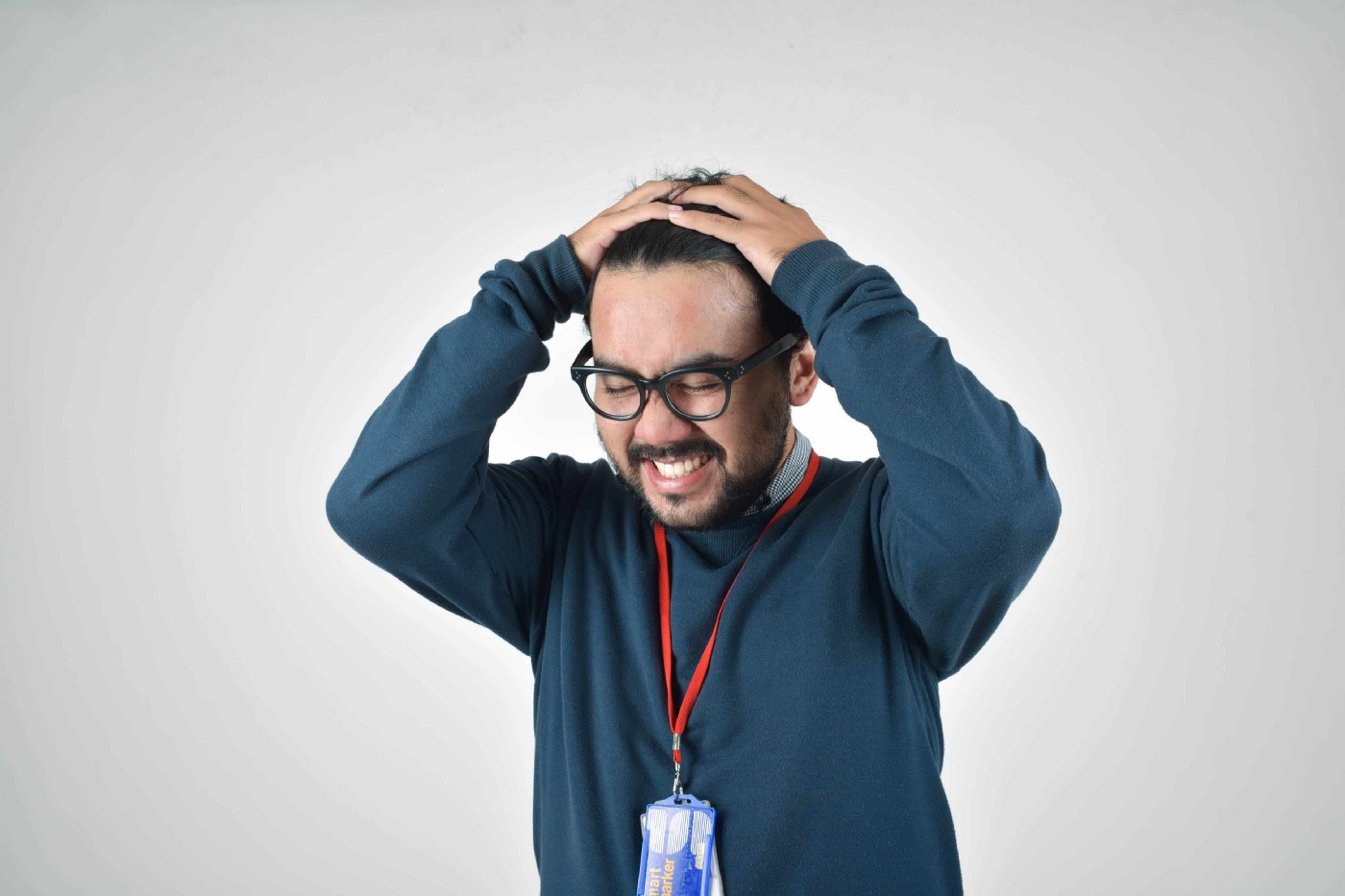 Frustrated salesperson