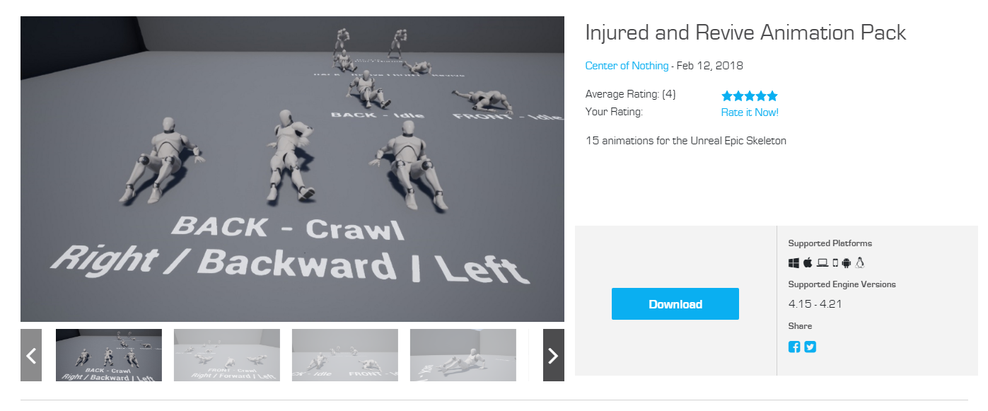 Add Realism to your project with this Injured and Revive Animation