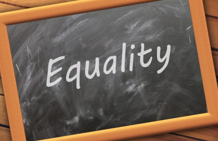 """chalkboard with """"equality"""" written on it"""