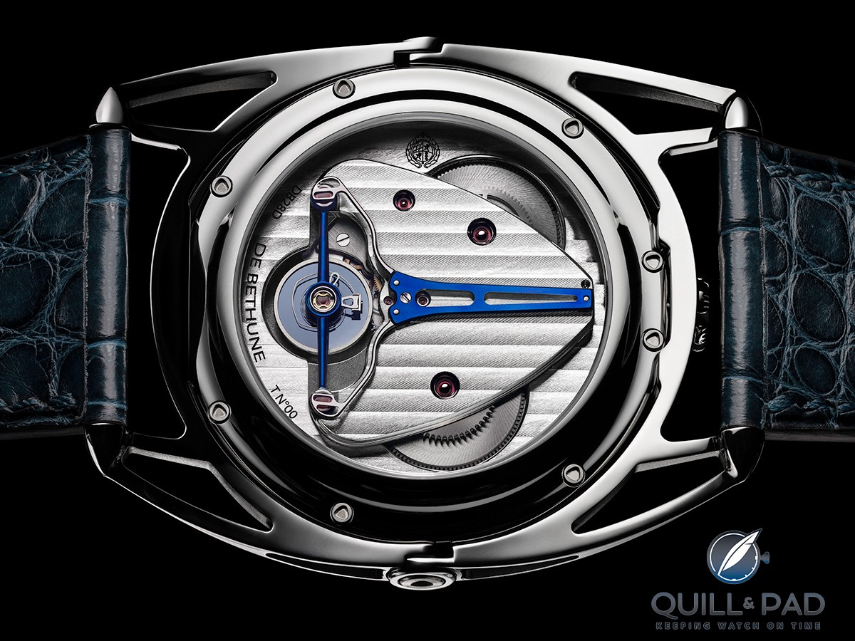 Through the display back of the De Bethune DB28 Digitale
