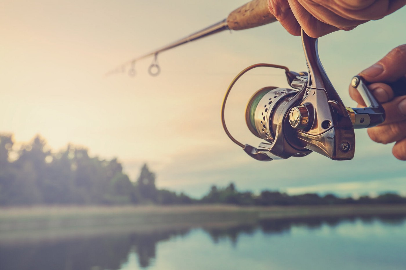 image of person fishing