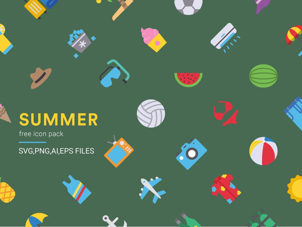 Summer free icon pack