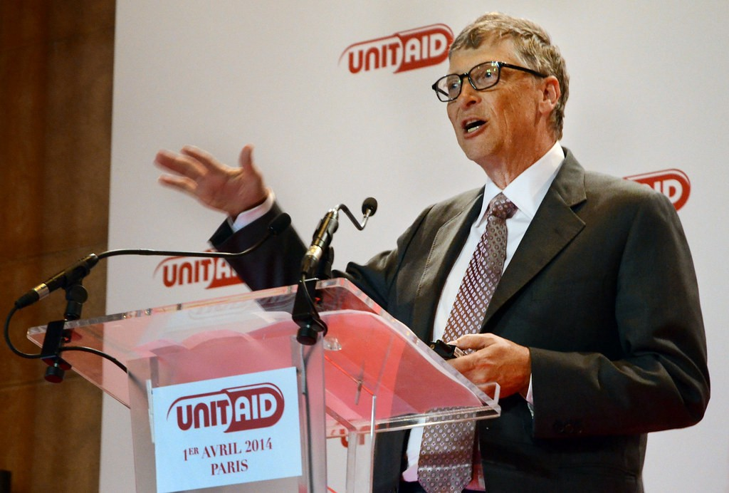 Bill Gates—the most generous philanthropist in the US—helping to promote a charitable cause.
