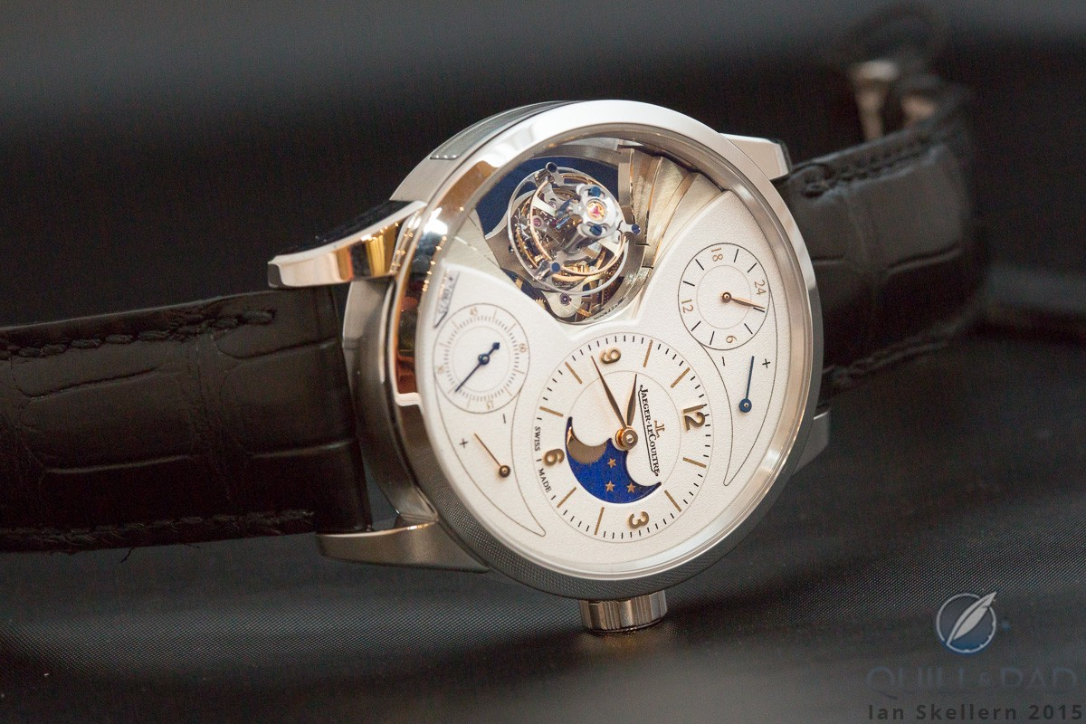View through the display back of the Jaeger-LeCoultre Duomètre Sphérotourbillon Moon