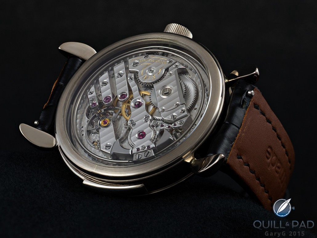 Movement view of the Voutilainen Masterpiece 8 Decimal Repeater