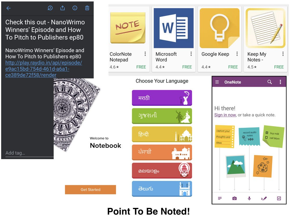 Picture of different note taking apps