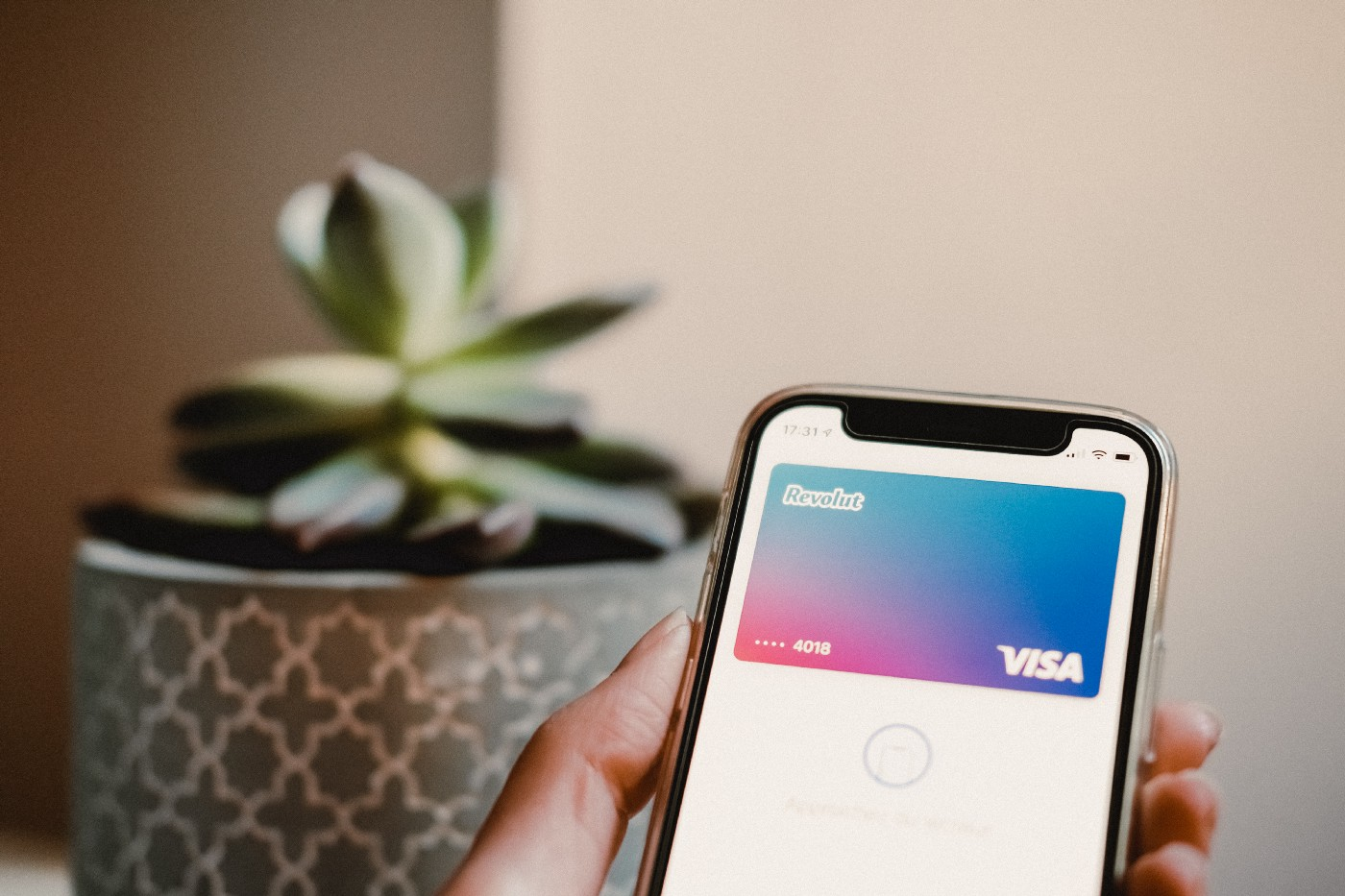 Revolut opened on a smartphone.