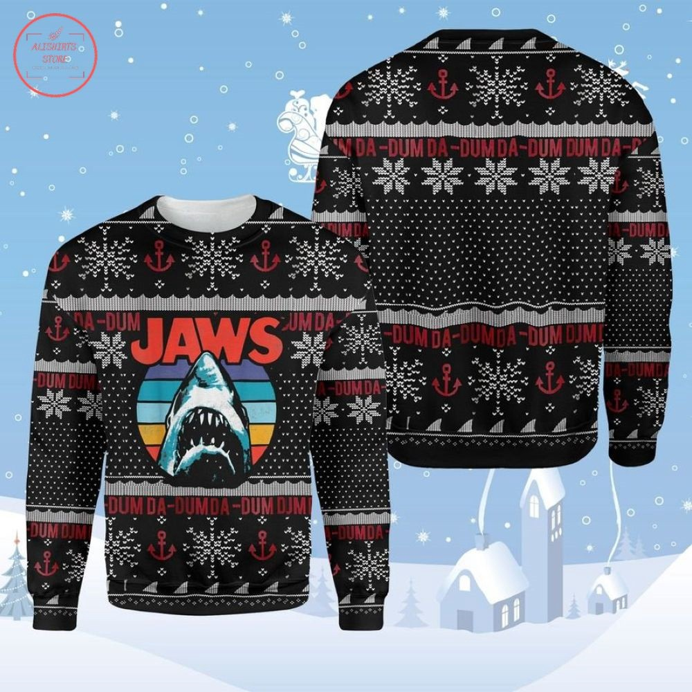Horror Shark Jaws Ugly Christmas Sweater