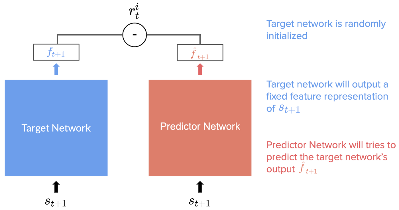 target and predictor networks