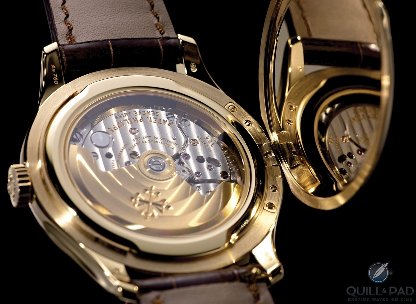 Under the cover and through the display back of the Patek Philippe Calatrava Reference 5227J