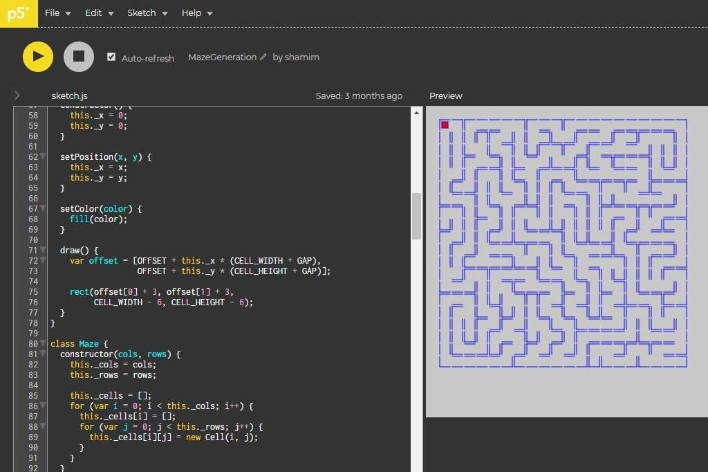 How to Generate Mazes Using Depth-First Algorithm