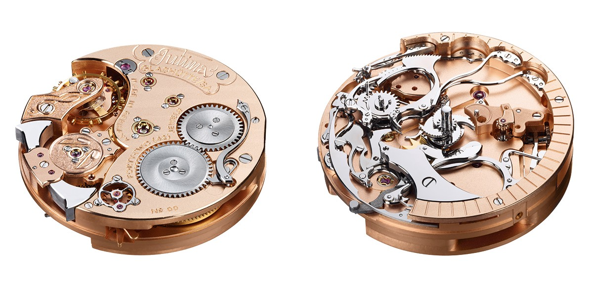 Movement top and bottom of the Tutima Hommage Minute Repeater