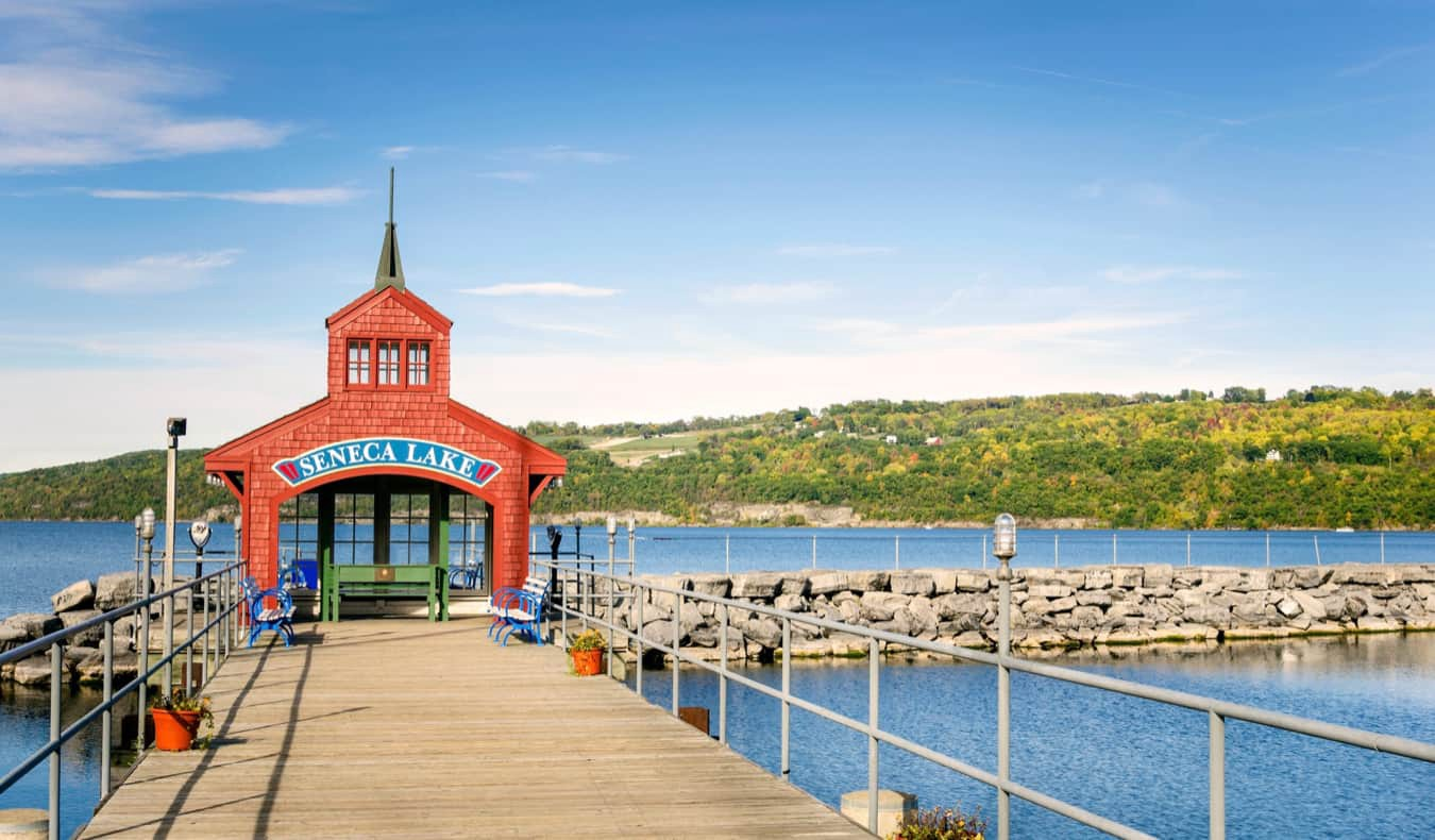 The picturesque Finger Lakes region of New York, USA