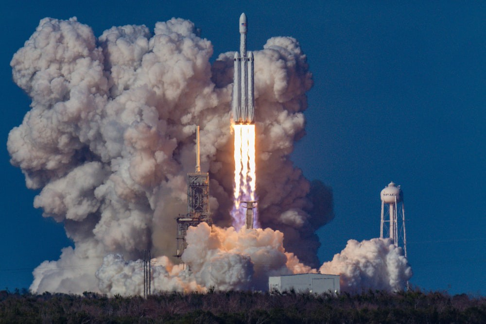 First launch of the SpaceX Falcon Heavy rocket—photo by Bill Jellen