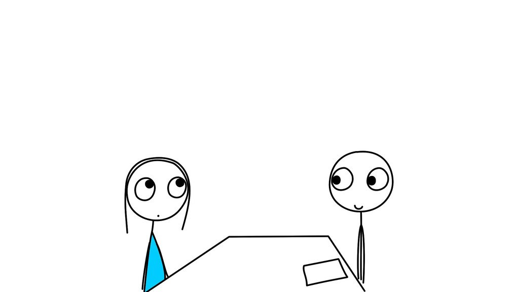 Cute interview illustration