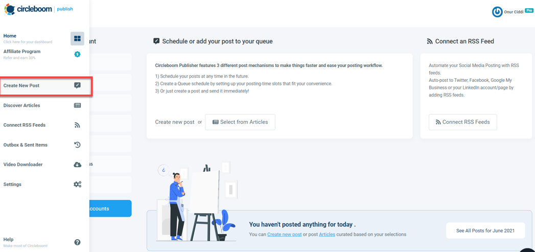 You can design, manage, plan and schedule LinkedIn posts with Circleboom!