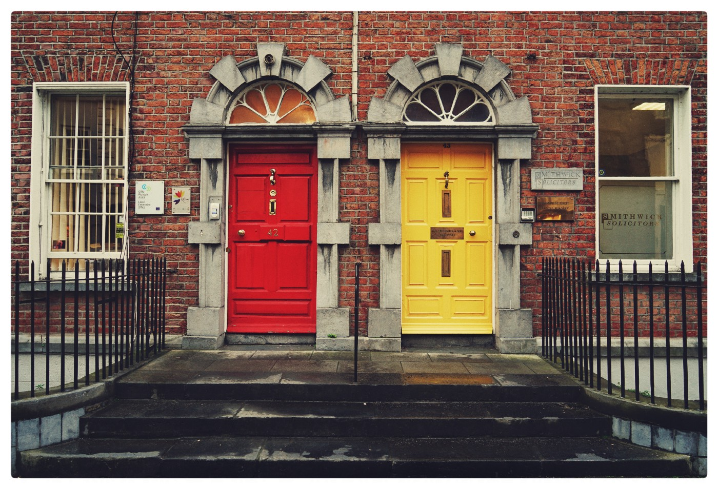 a red and a yellow door — to act or not to act
