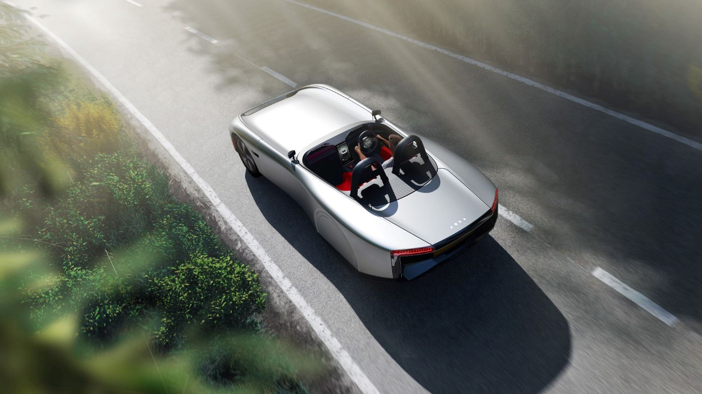 British consortium shows a lightweight electric sports car of the future