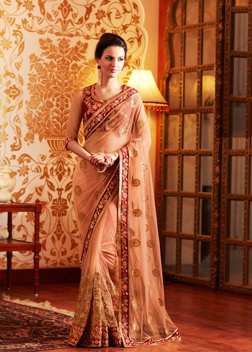 b443971a30 Today, people are choosing traditional Indian Wedding Sarees for their  child wedding celebrations. The wedding could be really overwhelming about  the type ...
