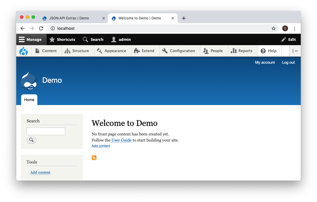 How to quickly configure Drupal as a decoupled API-first system