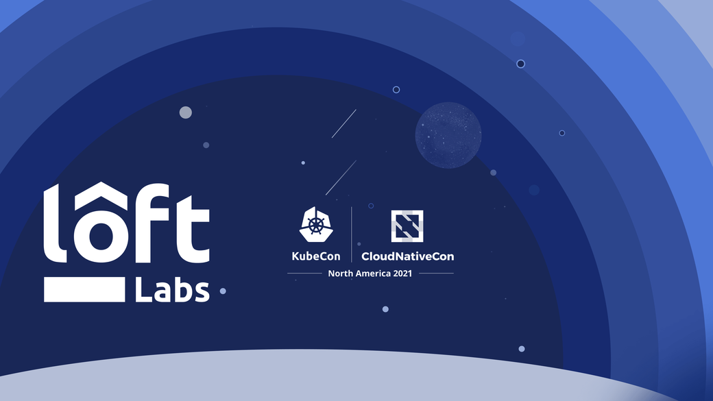 Image with the Loft Labs and KubeCon logos