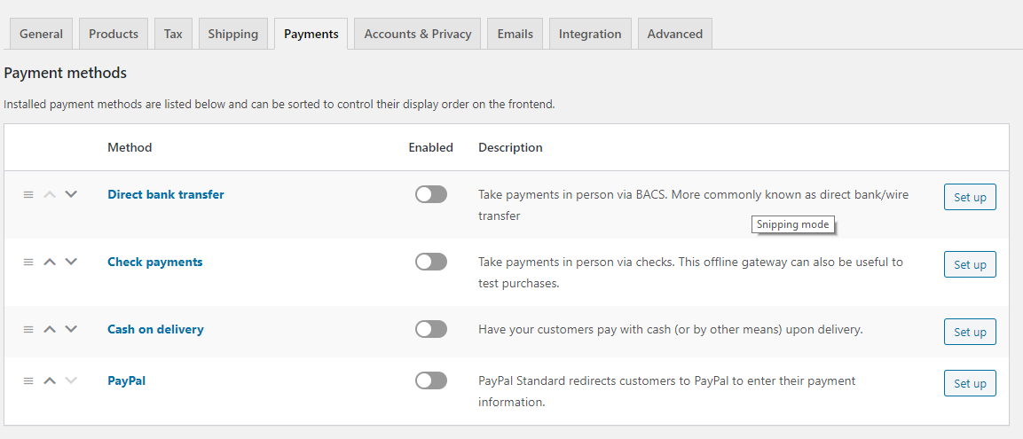 WooCommerce payment configuration - How To Set Up WooCommerce