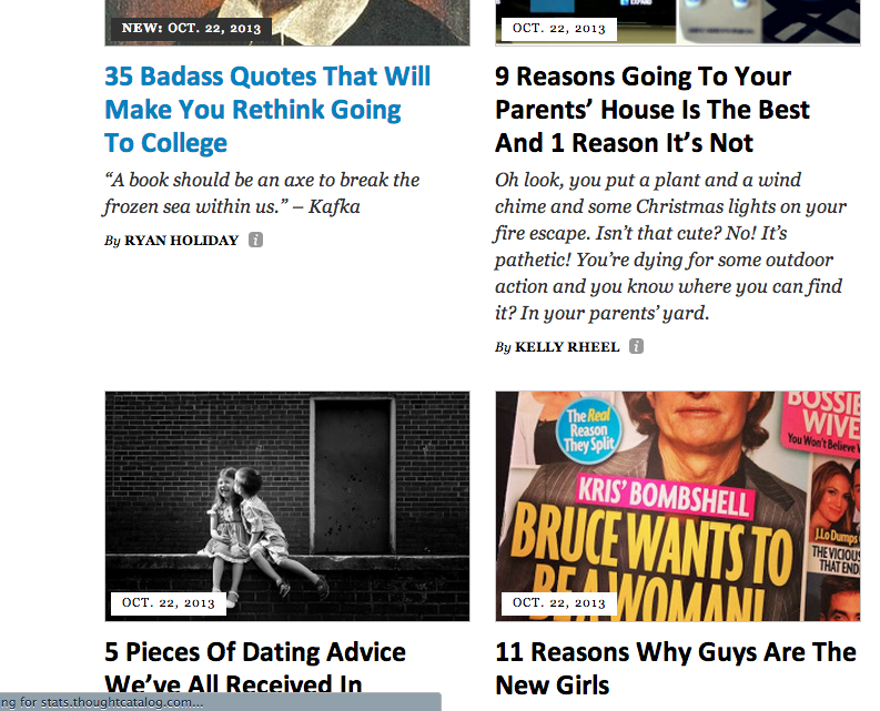 college dating thought catalog