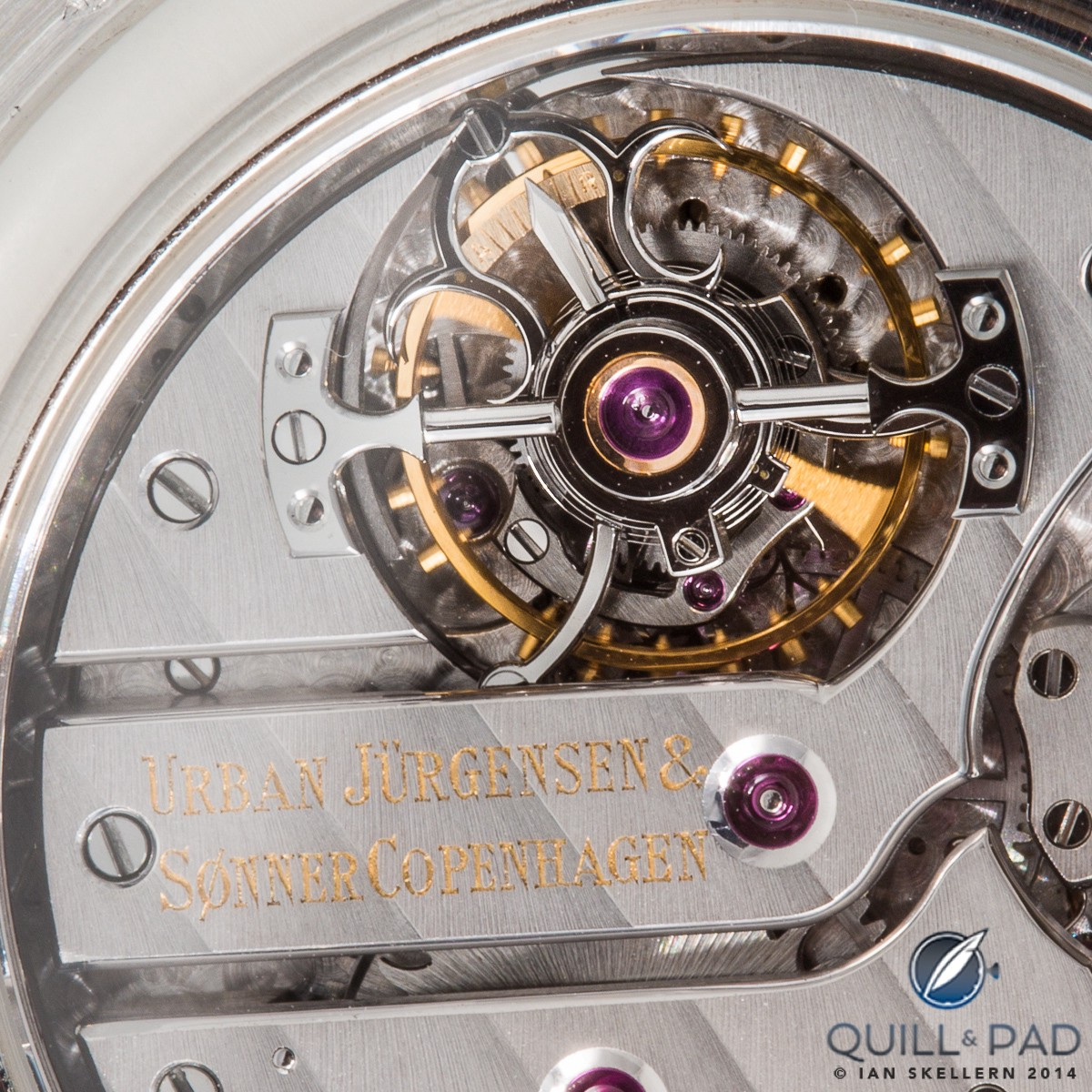 The elegant tourbillon cage of the Urban Jürgensen Tourbillon Minute Repeater