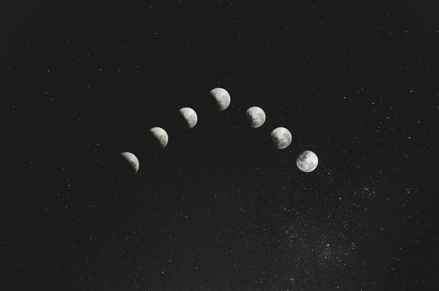Moons in a V formation