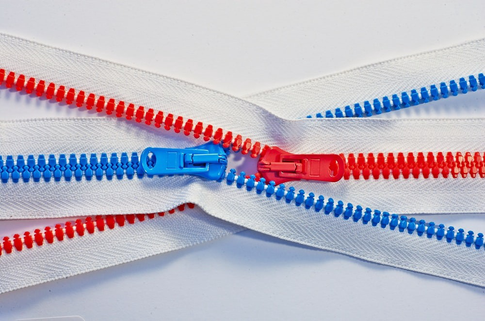 Two zippers