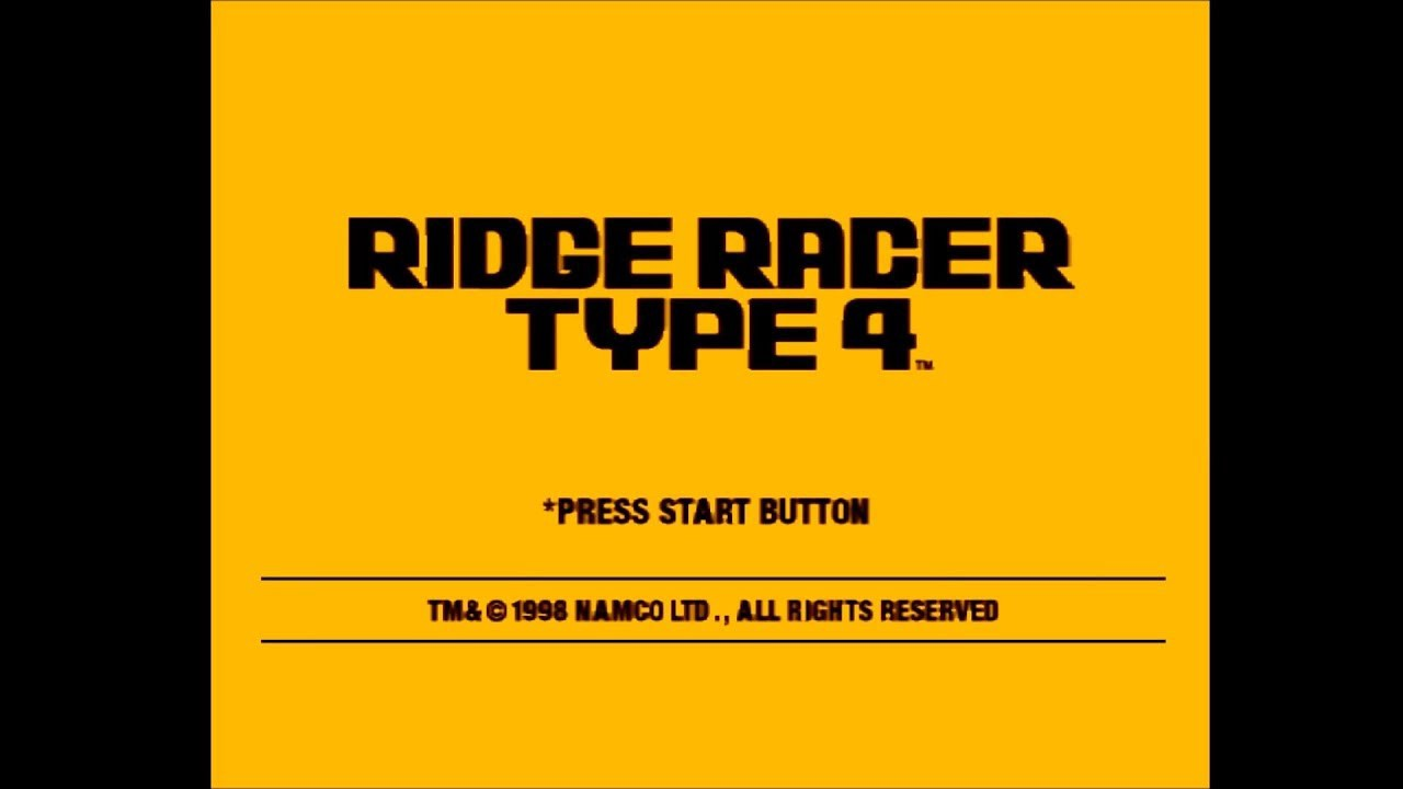 Ridge Racer Title Screen