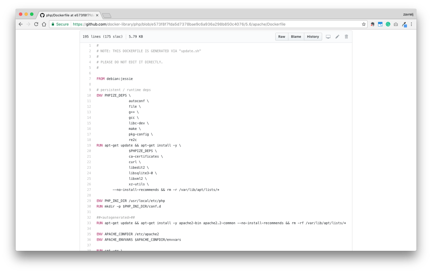 Docker and Docker Compose for PHP development with GitHub and