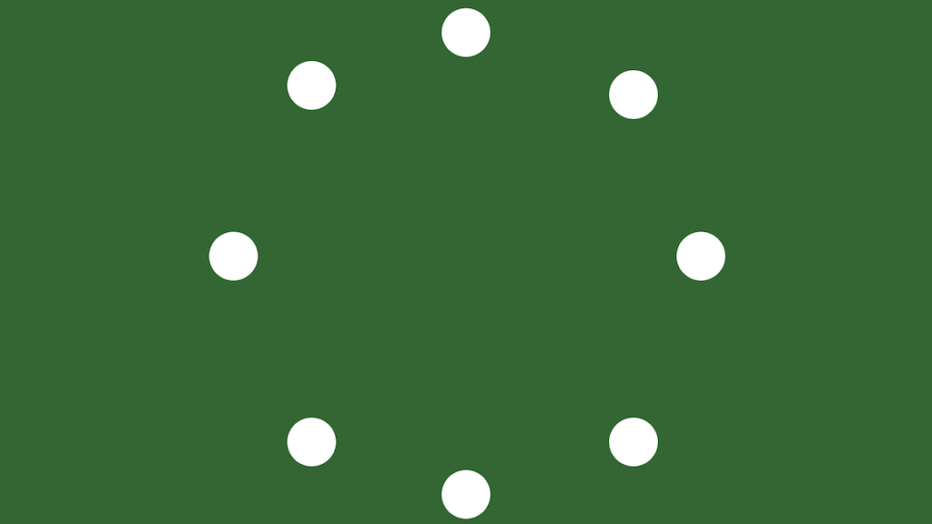 A circle of  small circles, with no connections between them.