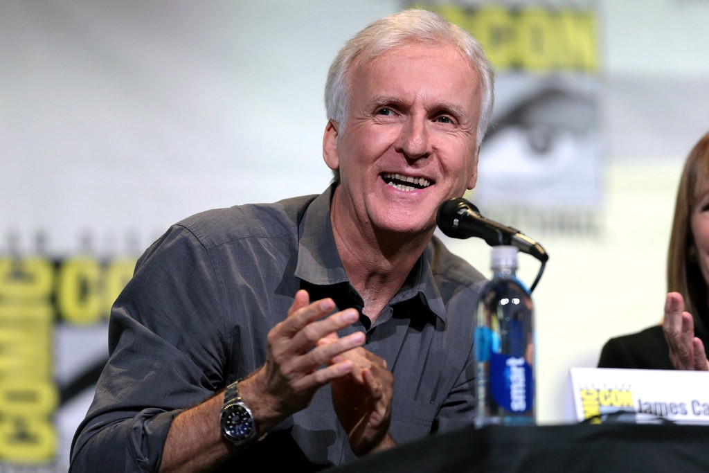 "James Cameron speaking at the 2016 San Diego Comic Con International, for ""Aliens: 30th Anniversary"", at the San Diego Convention Center in San Diego, California."