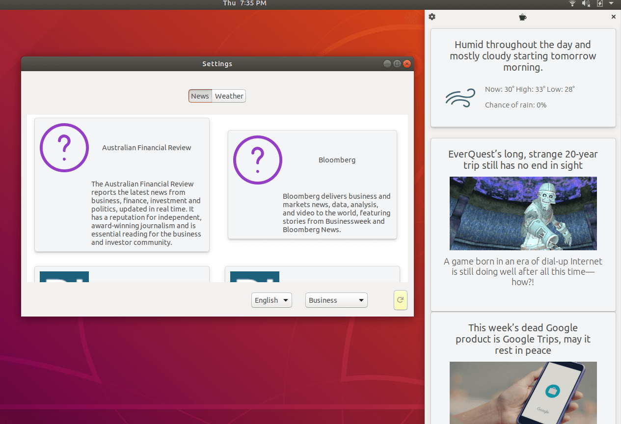 How to install Coffee News and Weather App in Ubuntu 18 04